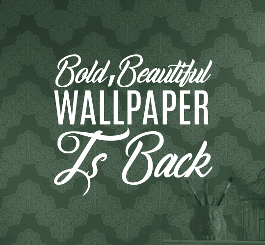 Bold, Beautiful Wallpaper is Back