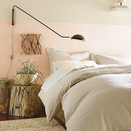 Bedroom painted with Blushing